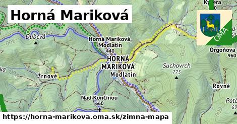 ikona Horná Mariková: 5,0km trás zimna-mapa  horna-marikova