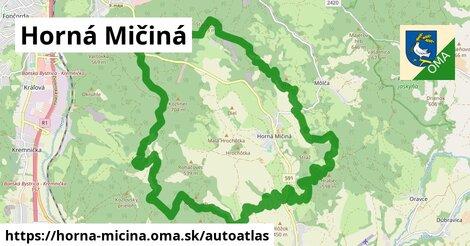 ikona Mapa autoatlas  horna-micina