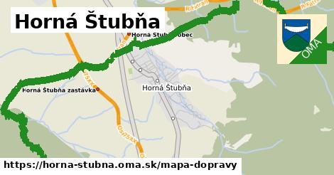 ikona Horná Štubňa: 1,26km trás mapa-dopravy  horna-stubna