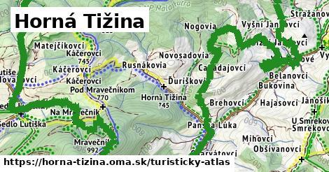 ikona Horná Tižina: 15km trás turisticky-atlas  horna-tizina