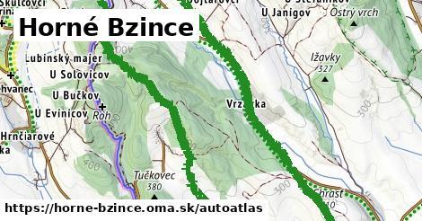ikona Mapa autoatlas  horne-bzince