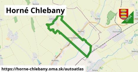 ikona Mapa autoatlas  horne-chlebany