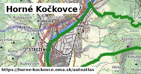 ikona Mapa autoatlas  horne-kockovce
