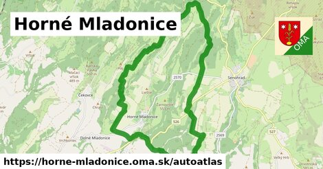 ikona Mapa autoatlas  horne-mladonice