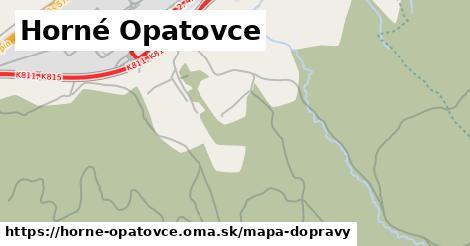 ikona Horné Opatovce: 11,9km trás mapa-dopravy  horne-opatovce