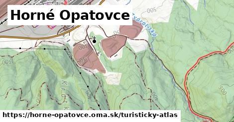 ikona Horné Opatovce: 7,3km trás turisticky-atlas  horne-opatovce