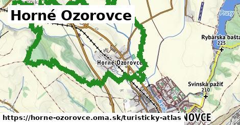 ikona Horné Ozorovce: 0m trás turisticky-atlas v horne-ozorovce