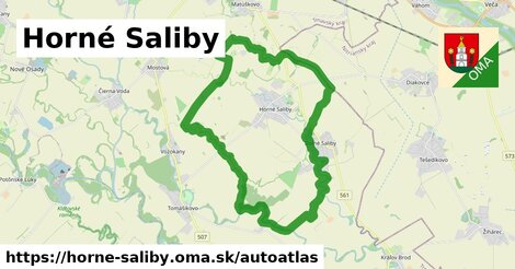 ikona Mapa autoatlas  horne-saliby