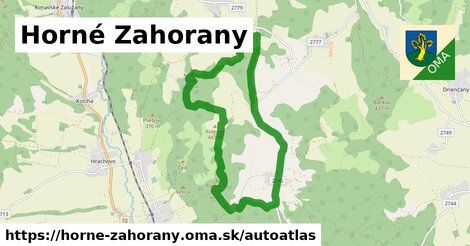 ikona Mapa autoatlas  horne-zahorany