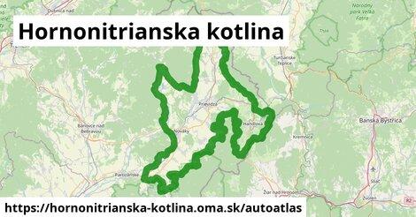 ikona Mapa autoatlas  hornonitrianska-kotlina