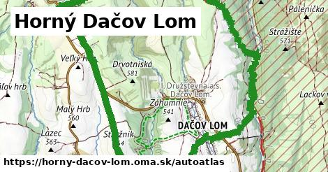 ikona Mapa autoatlas  horny-dacov-lom