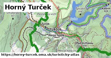 ikona Horný Turček: 36km trás turisticky-atlas  horny-turcek