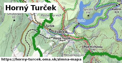 ikona Horný Turček: 61km trás zimna-mapa  horny-turcek