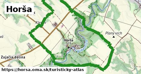 ikona Horša: 0m trás turisticky-atlas v horsa