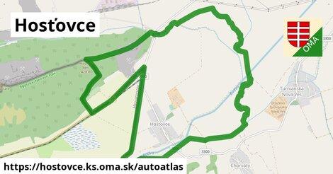 ikona Mapa autoatlas  hostovce.ks