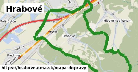 ikona Hrabové: 21km trás mapa-dopravy v hrabove