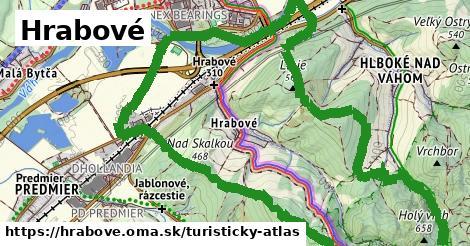 ikona Hrabové: 13,2km trás turisticky-atlas v hrabove