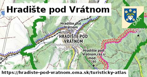 ikona Hradište pod Vrátnom: 28km trás turisticky-atlas  hradiste-pod-vratnom