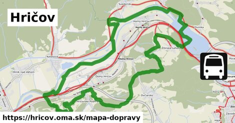 ikona Hričov: 36km trás mapa-dopravy  hricov