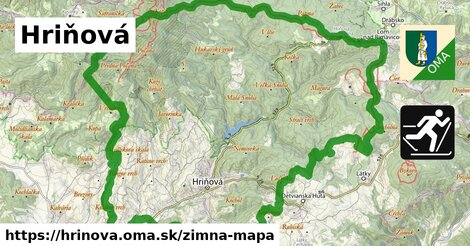 ikona Hriňová: 23km trás zimna-mapa  hrinova
