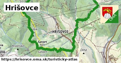 ikona Turistická mapa turisticky-atlas  hrisovce