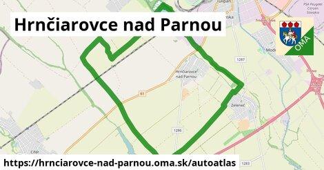 ikona Mapa autoatlas  hrnciarovce-nad-parnou