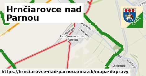 ikona Hrnčiarovce nad Parnou: 45km trás mapa-dopravy  hrnciarovce-nad-parnou