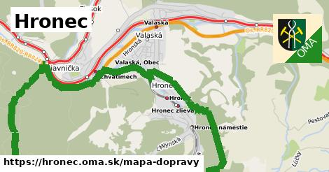 ikona Hronec: 3,0km trás mapa-dopravy  hronec