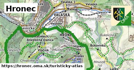 ikona Hronec: 31km trás turisticky-atlas  hronec