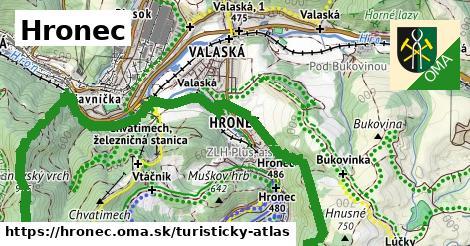 ikona Turistická mapa turisticky-atlas  hronec