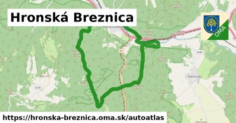 ikona Mapa autoatlas  hronska-breznica