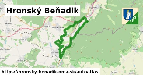 ikona Mapa autoatlas  hronsky-benadik