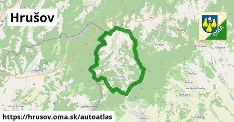 ikona Mapa autoatlas  hrusov
