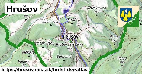 ikona Hrušov: 7,1km trás turisticky-atlas  hrusov