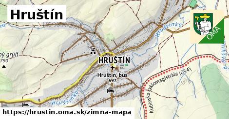 ikona Hruštín: 0,98km trás zimna-mapa  hrustin