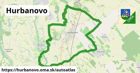 ikona Mapa autoatlas  hurbanovo