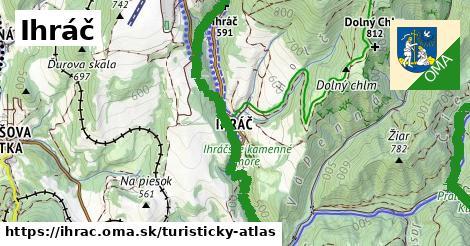 ikona Turistická mapa turisticky-atlas  ihrac