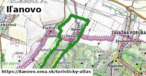 ikona Iľanovo: 10,7km trás turisticky-atlas  ilanovo