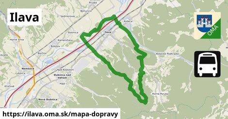 ikona Ilava: 11,5km trás mapa-dopravy  ilava