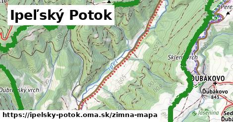 ikona Ipeľský Potok: 2,1km trás zimna-mapa  ipelsky-potok