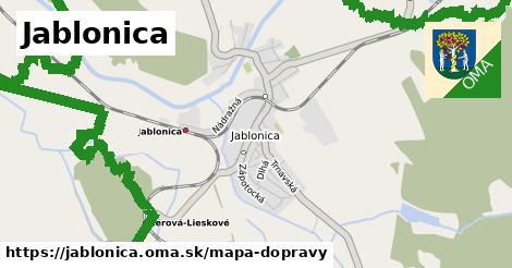 ikona Mapa dopravy mapa-dopravy  jablonica