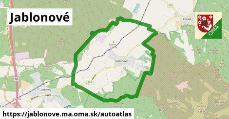 ikona Mapa autoatlas  jablonove.ma