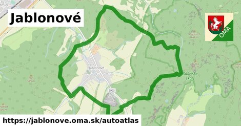 ikona Mapa autoatlas  jablonove