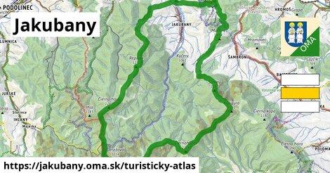 ikona Turistická mapa turisticky-atlas  jakubany