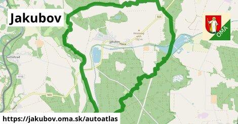 ikona Mapa autoatlas  jakubov