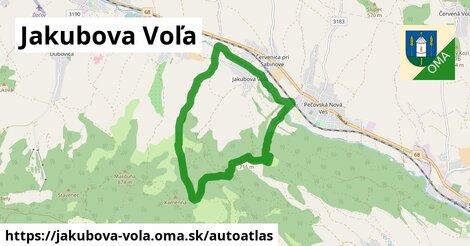 ikona Mapa autoatlas  jakubova-vola
