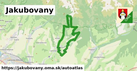 ikona Mapa autoatlas  jakubovany