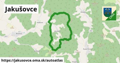 ikona Mapa autoatlas  jakusovce