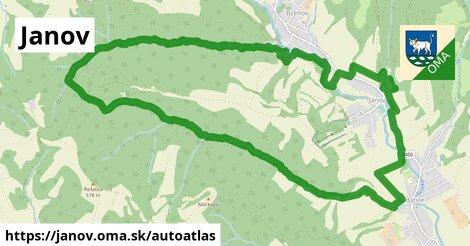 ikona Mapa autoatlas  janov