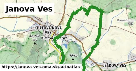 ikona Mapa autoatlas  janova-ves